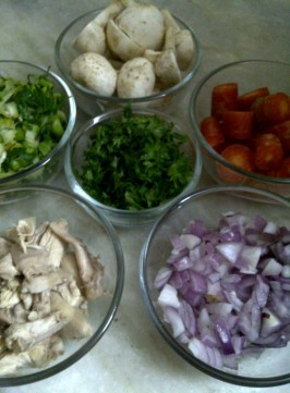 Ingredients for Chicken Noodle Vegetable Broth
